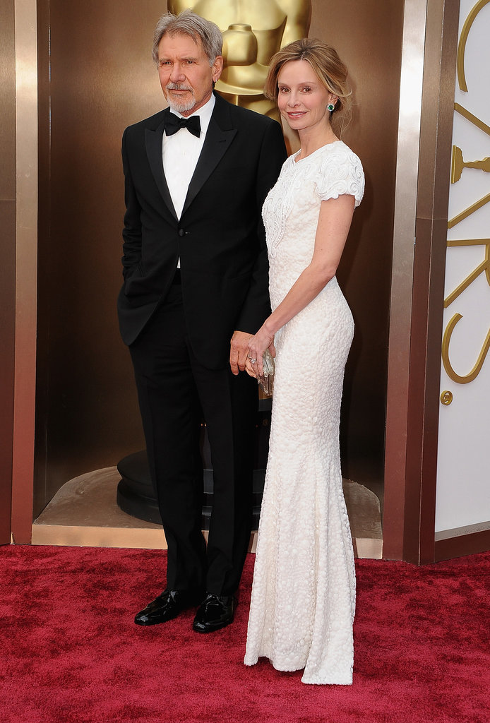 Harrison Ford walked the red carpet with Calista Flockhart.