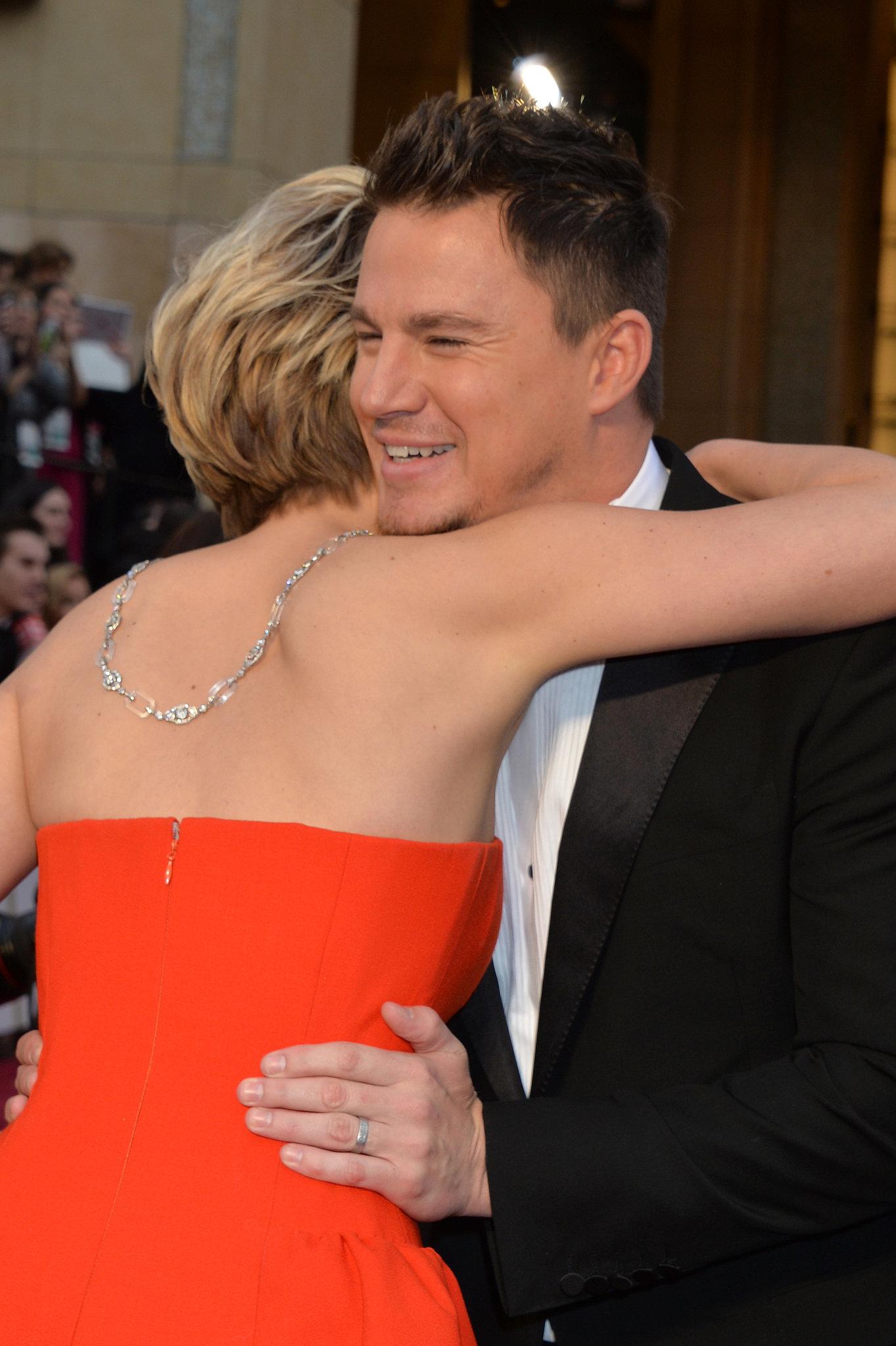Jennifer Lawrence and Channing Tatum at the 2014 Oscars.