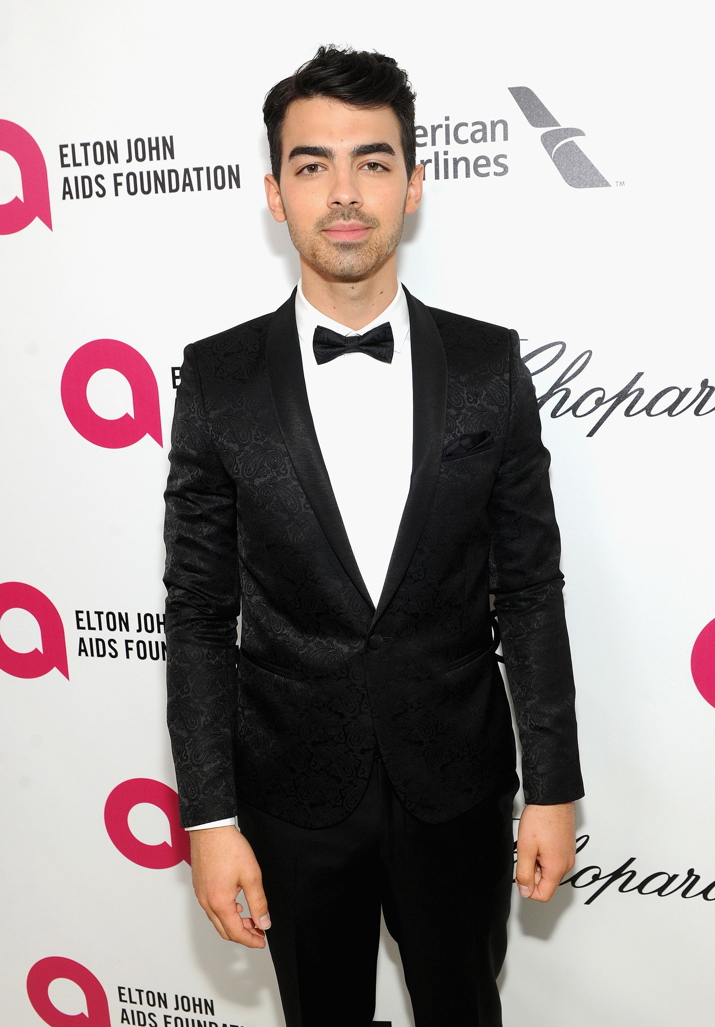 Joe Jonas was the only one of his brothers at the party.