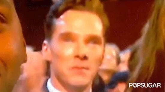 Benedict Cumberbatch Wept During Lupita's Acceptance Speech