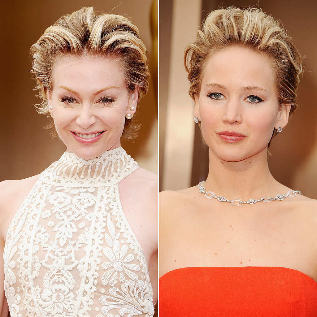 Portia de Rossi and Jennifer Lawrence