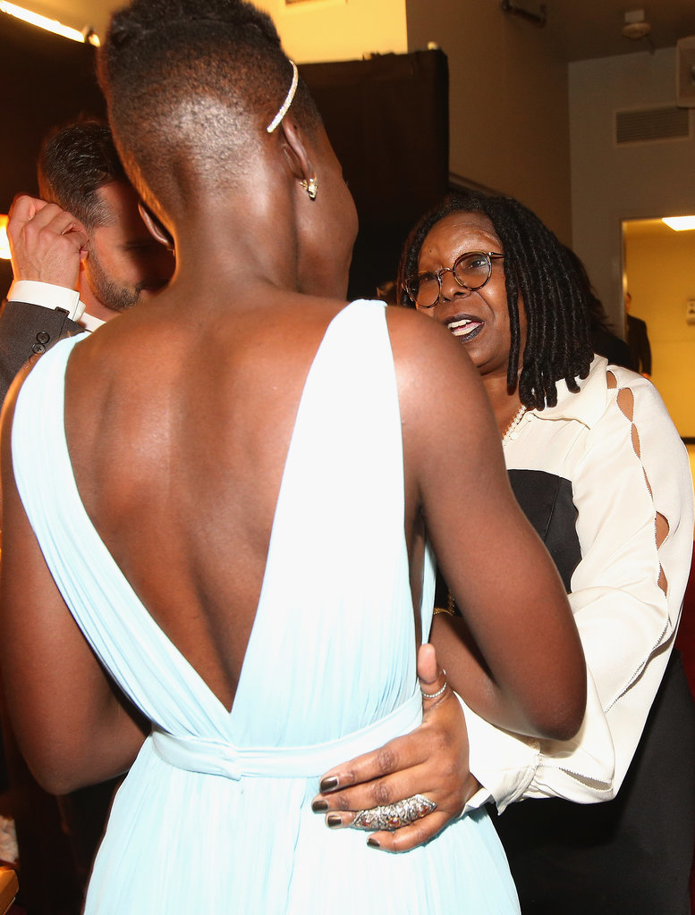 Whoopi Goldberg congratulated Lupita Nyong'o on her Oscar win.