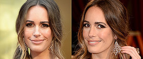 Louise Roe Pairs a Side Ponytail With Nude Makeup at the Oscars