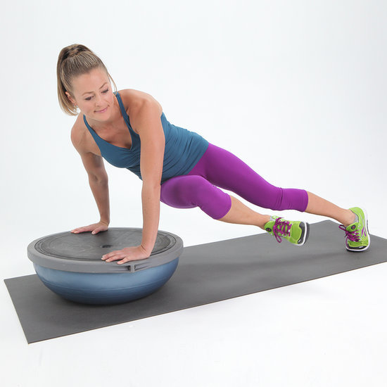 Twisted Plank on BOSU Ball