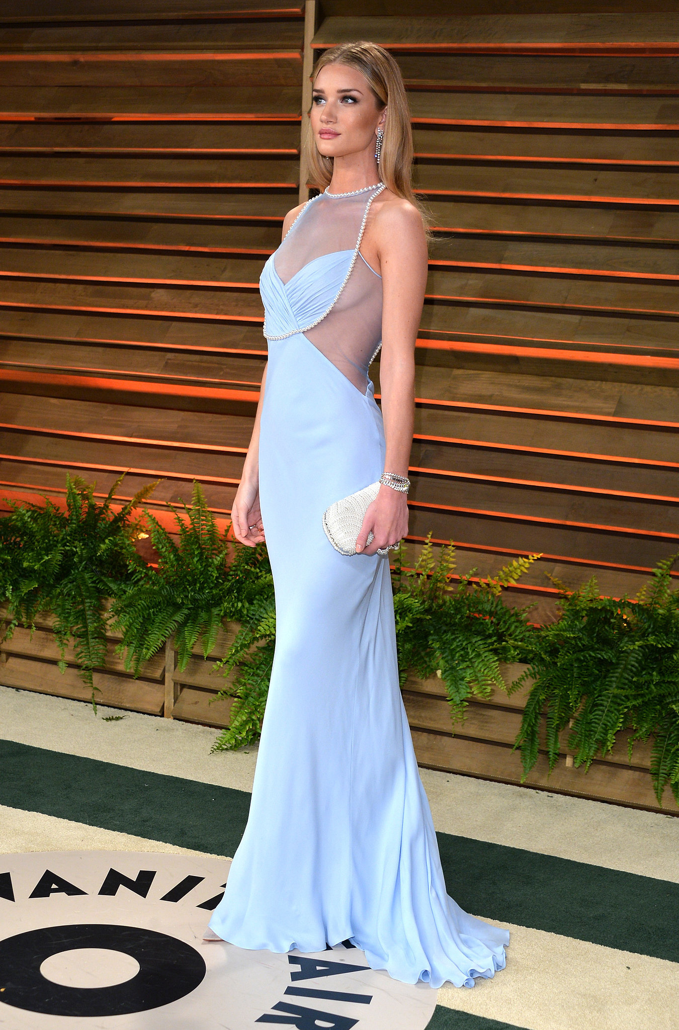 Rosie Huntington-Whiteley at the 2014 Vanity Fair Oscars Party