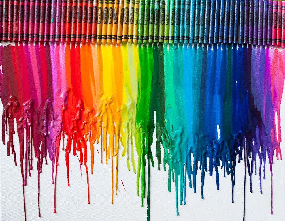Create a Cool Piece of Crayon Art