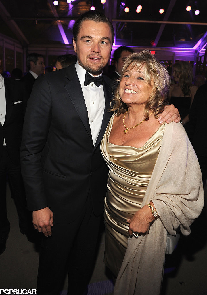 Leonardo DiCaprio had his mom, Irmelin, by his side at the Vanity Fair Oscars afterparty.