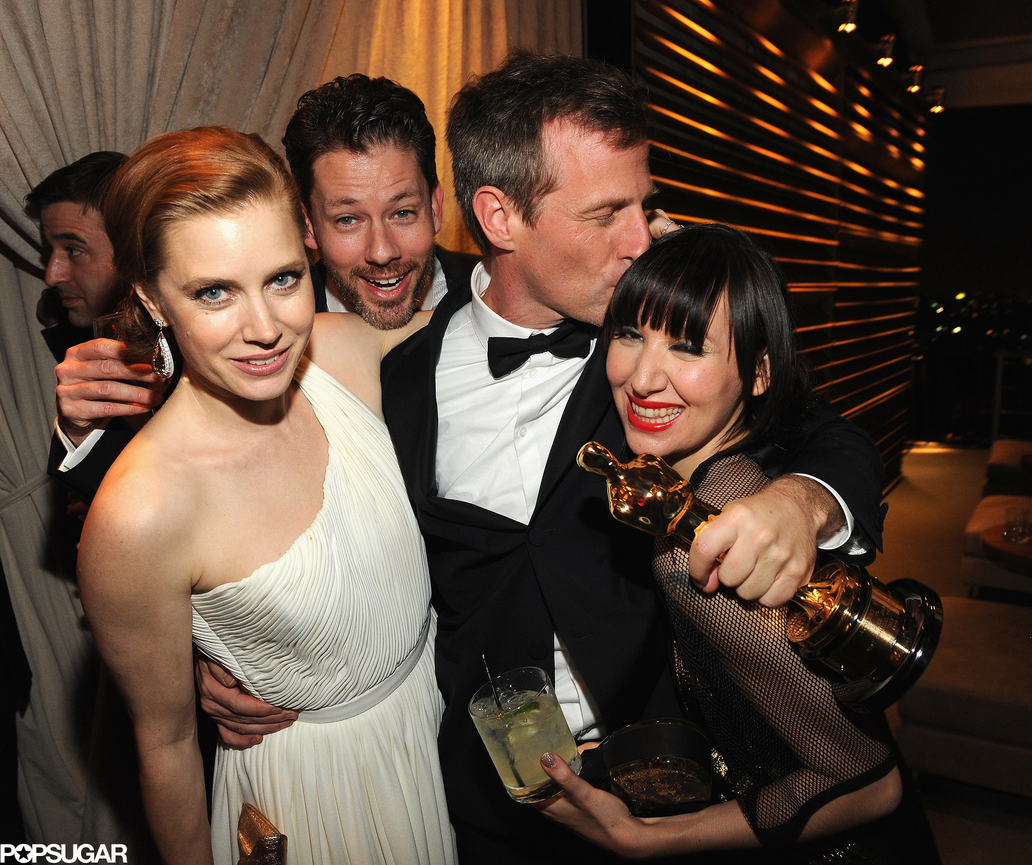 Amy Adams and original screenplay winner Spike Jonze gathered together at the Vanity Fair afterparty.