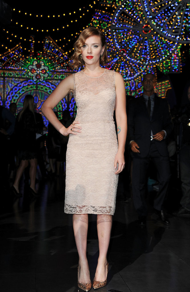 Scarlett Johansson at the Dolce & Gabbana show, 2011