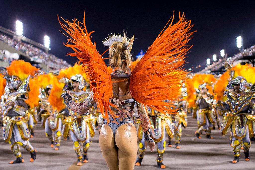 In Rio, a samba dancer showed some signature skin.