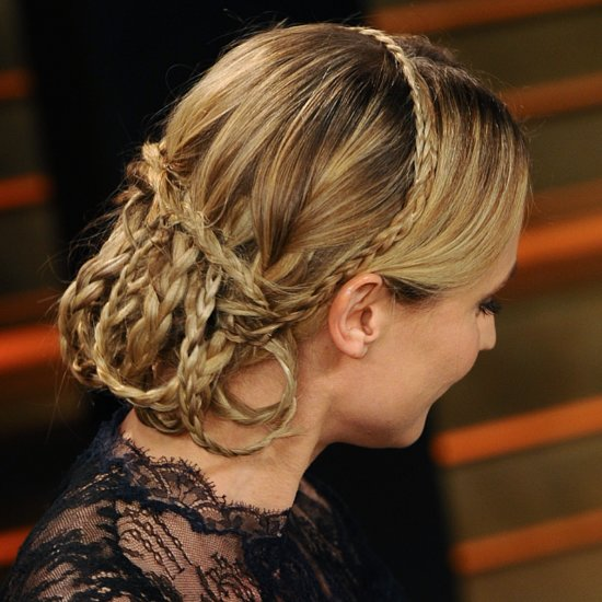 Diane Kruger Braided Hair at Vanity Fair Oscars After-Party