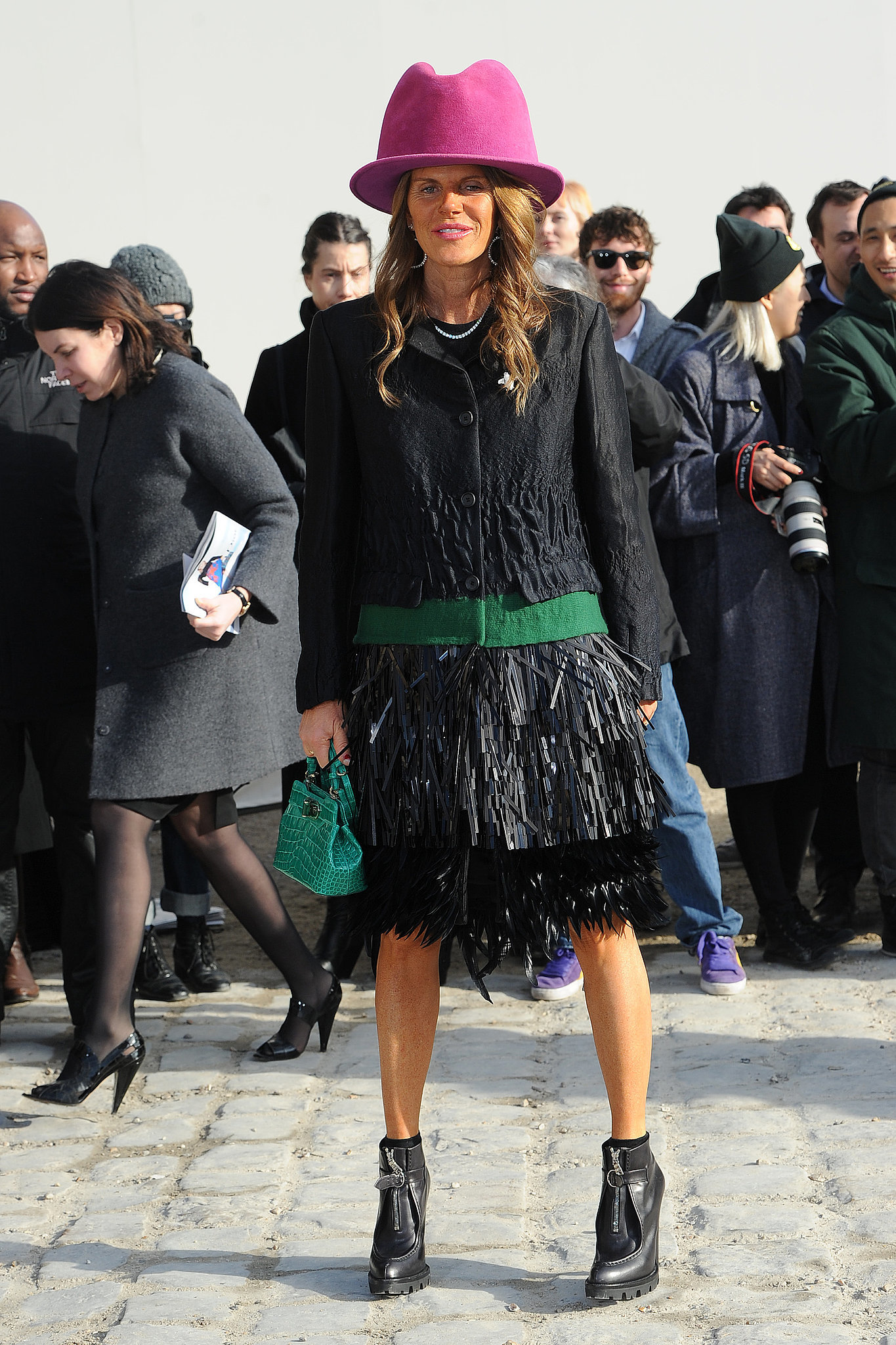 Anna Dello Russo at the Louis Vuitton Show