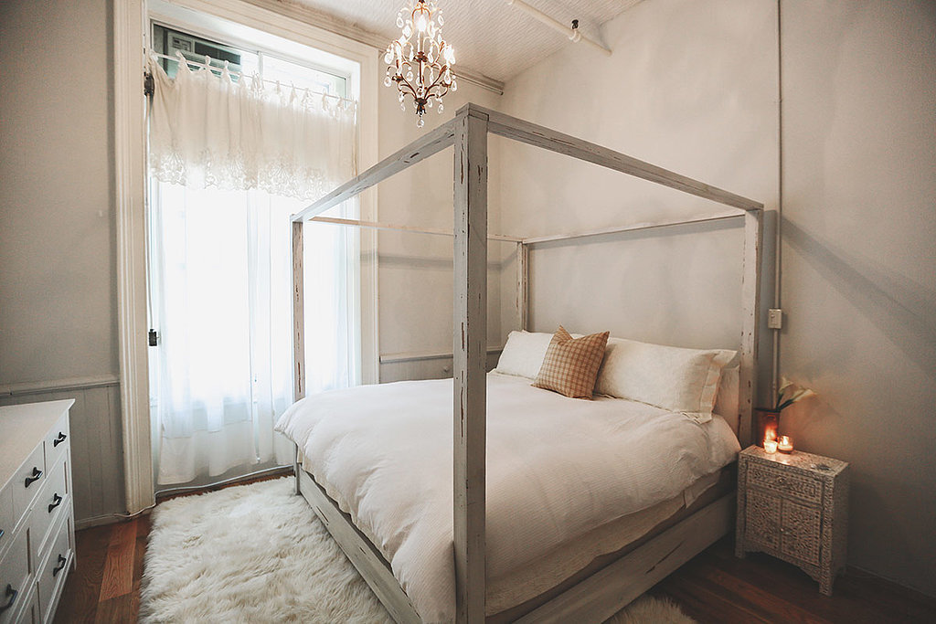 The neutral bedroom has a cloud-like feel. Photo by Chellis Michael Photography
