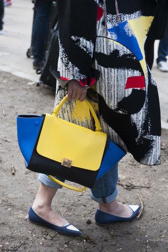 This Céline bag packs quite the color punch.