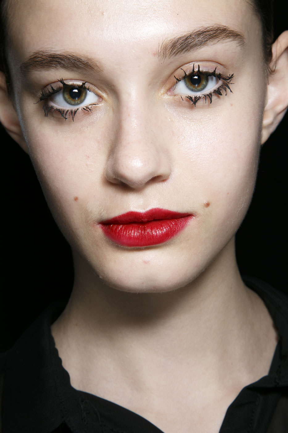 Clumped Lashes