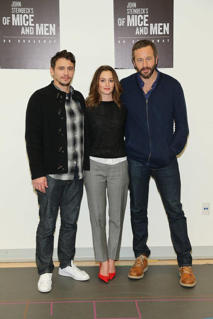 James Franco, Leighton Meester, and Chris O'Dowd