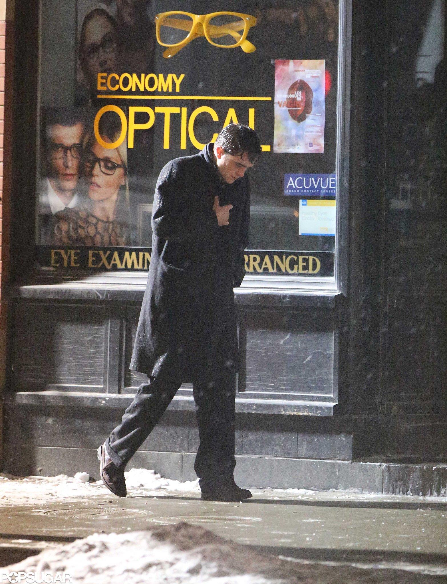 Robert Pattinson Gets Emotional in the Rain