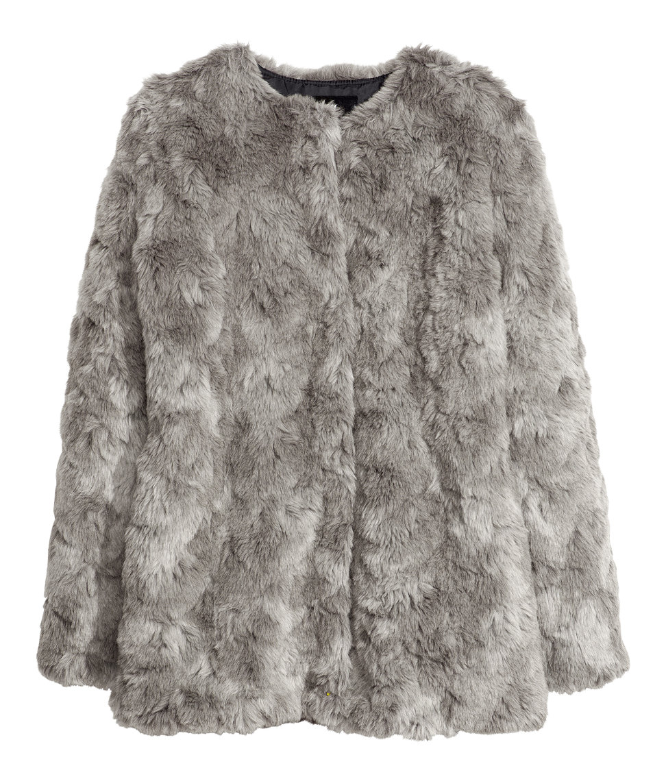 Faux Fur Jacket $79.95 H&m