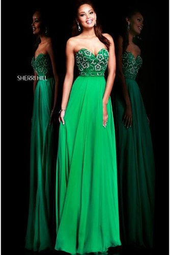 Sherri Hill 8545 Emerald Sweetheart 2014 Prom Dress