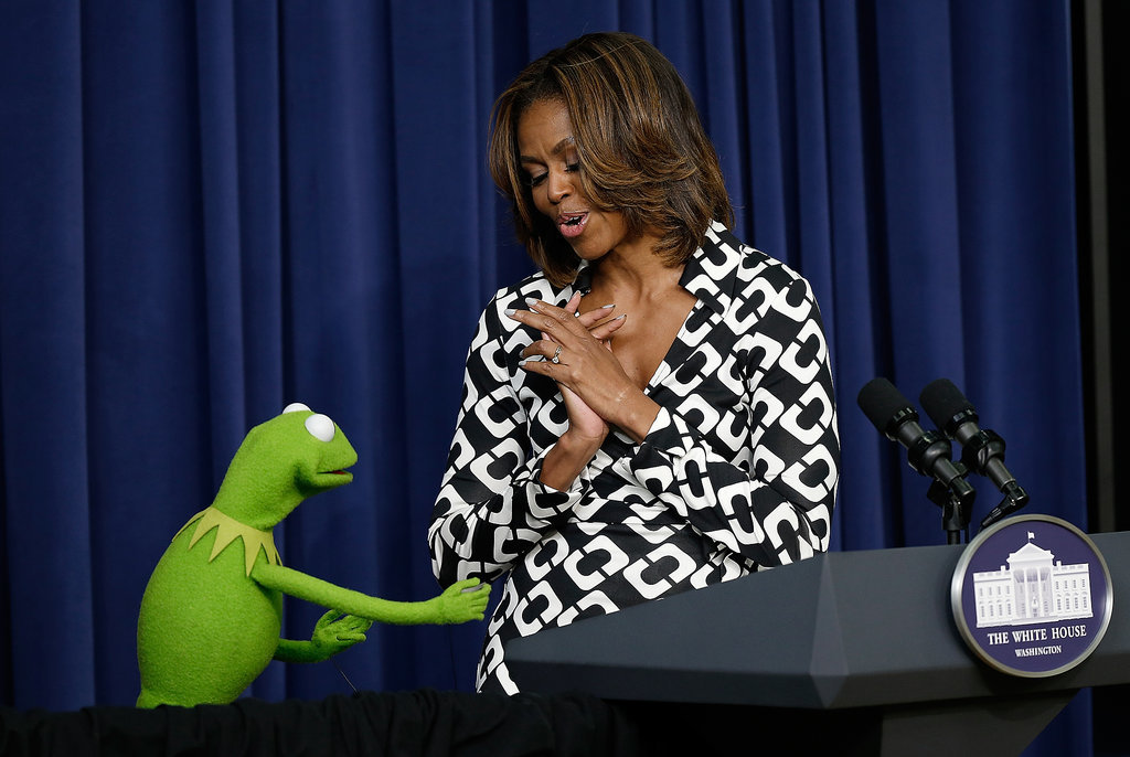 """And Michelle was like, """"Oh, Kermit. You shouldn't have."""""""