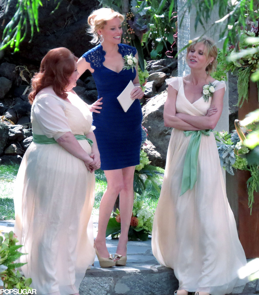 Banks's character is officiating the wedding!