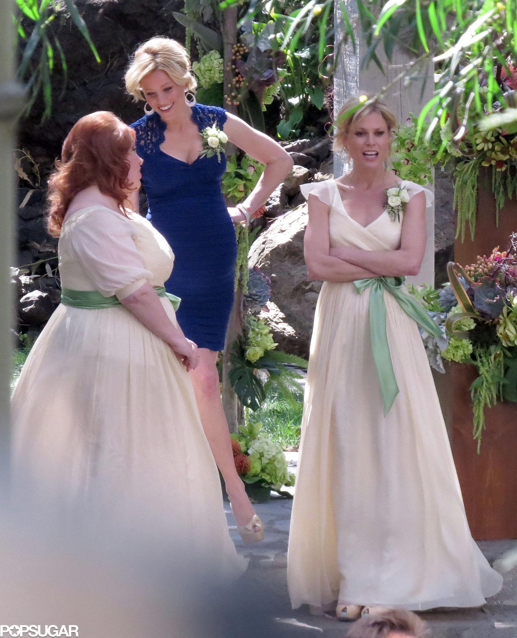 Classic bridesmaid dresses.