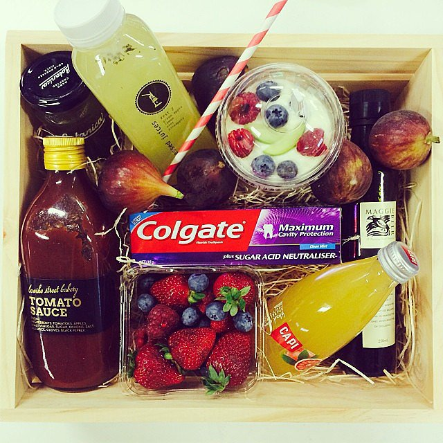 This may be the most delicious box of treats, but everything in there kind of wreaks havoc on our teeth. Enter Colgate's new product with Sugar Acid Neutraliser — we're thinking we might need to invest in some of this stuff. . .