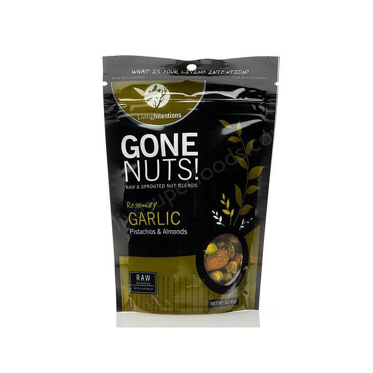 Gone Nuts! Rosemary Garlic Pistachios & Almonds, $7.95
