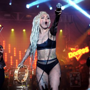 Lady Gaga Vomited On At SXSW By Vomit Painter Millie Brown