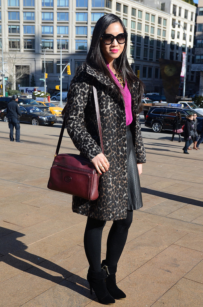 Congrats, StyleCueSuzieQ! A leopard-print topper is our idea of perfect outerwear.