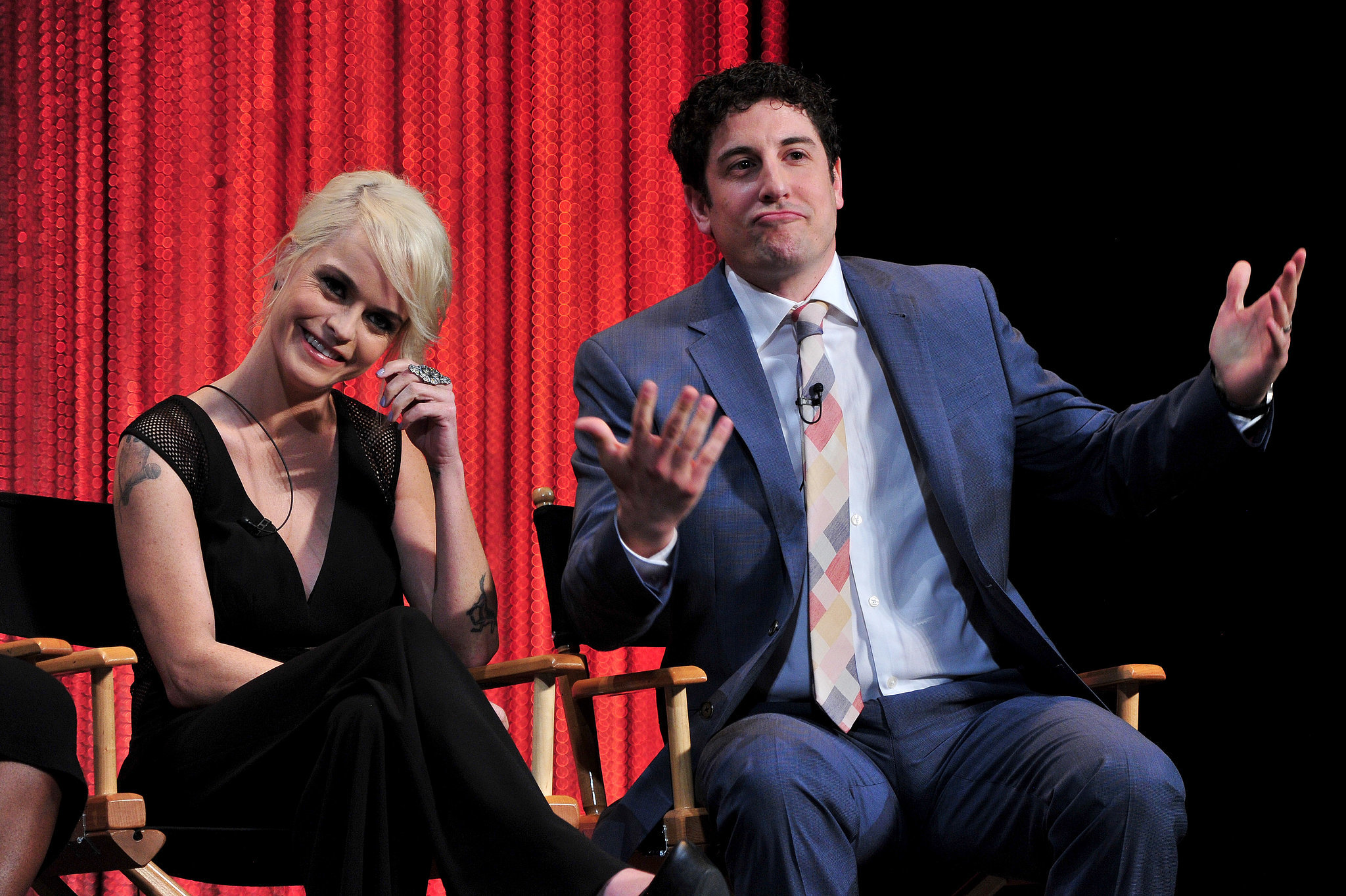 Taryn Manning and Jason Biggs joined their Orange Is the New Black costars on stage.