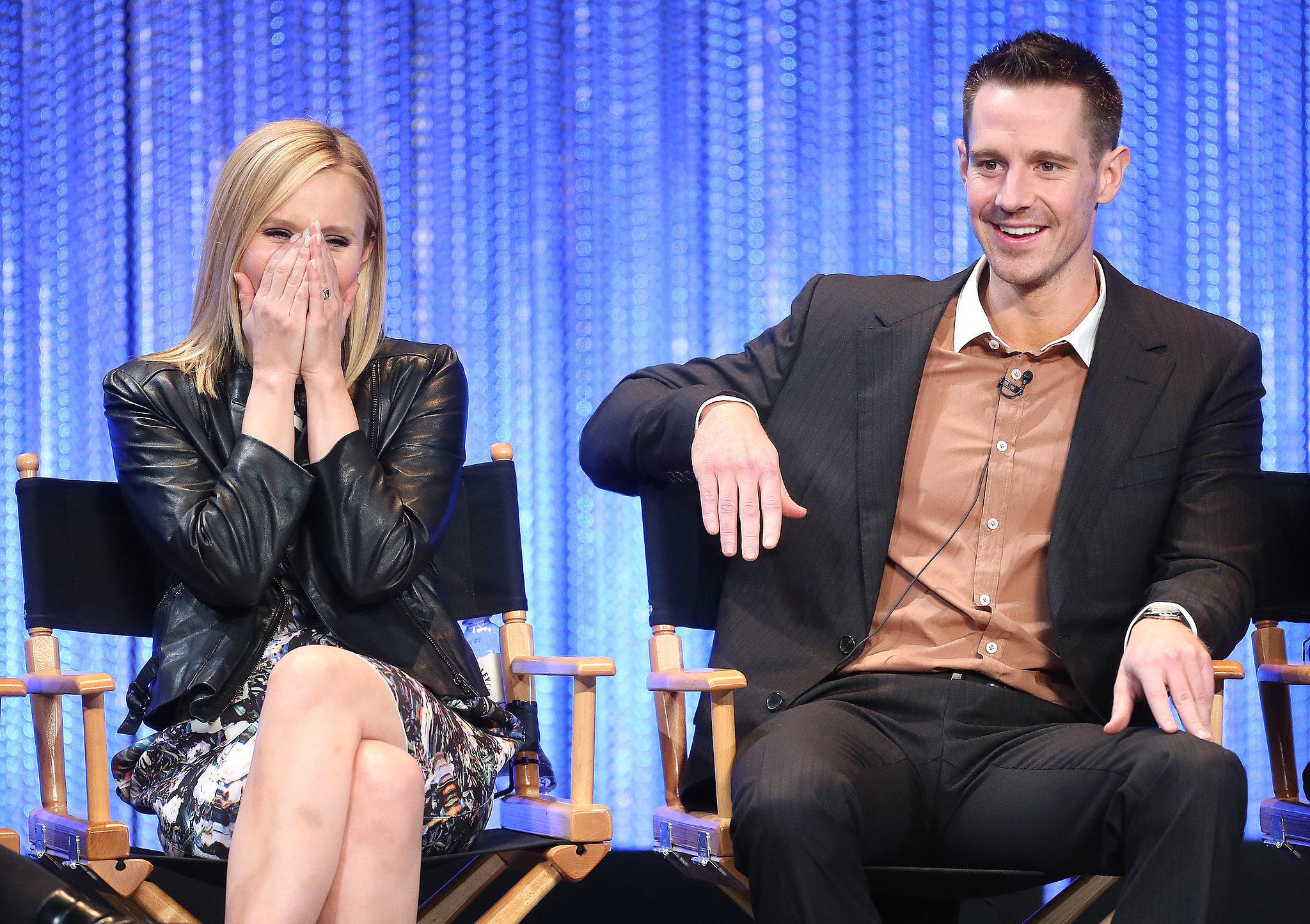 Jason Dohring sat next to a giggly Kristen Bell.