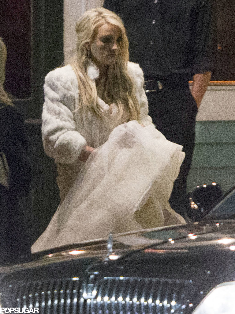 Like a True Spears Girl, Jamie Lynn Pairs Her Wedding Dress With Uggs