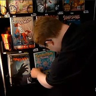 Comic Book Vending Machine