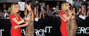 Shailene Woodley Takes Her Hugging Habit to the Red Carpet