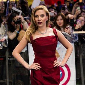 Scarlett Johansson at the Captain America UK Premiere