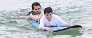 Andrew Garfield Surfing With Kids Gives Us All the Feelings
