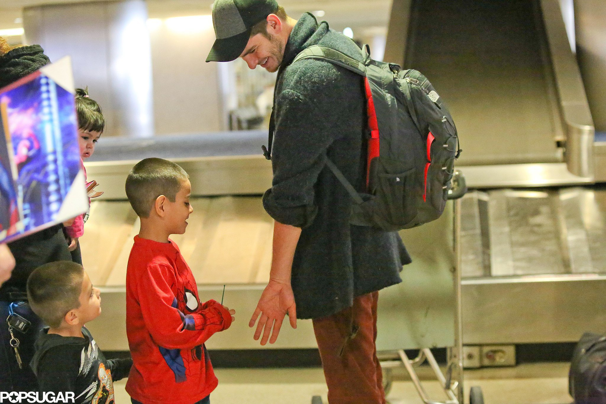 The Priceless Moment Between Andrew Garfield and His Little Spider-Man Fan