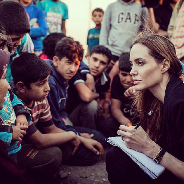 Catching a Glimpse of Angelina Jolie's Philanthropic Efforts