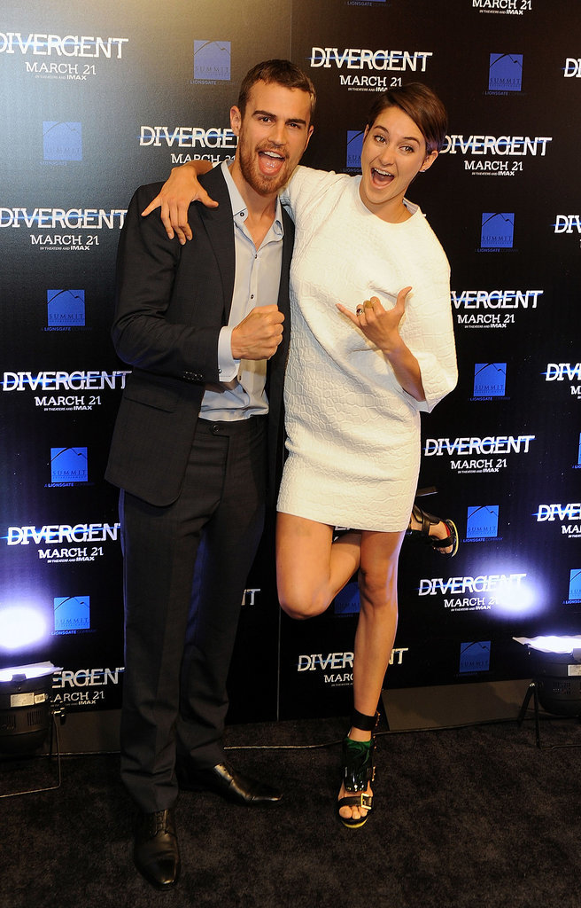 The duo got goofy at an Atlanta, GA, screening of Divergent in March.