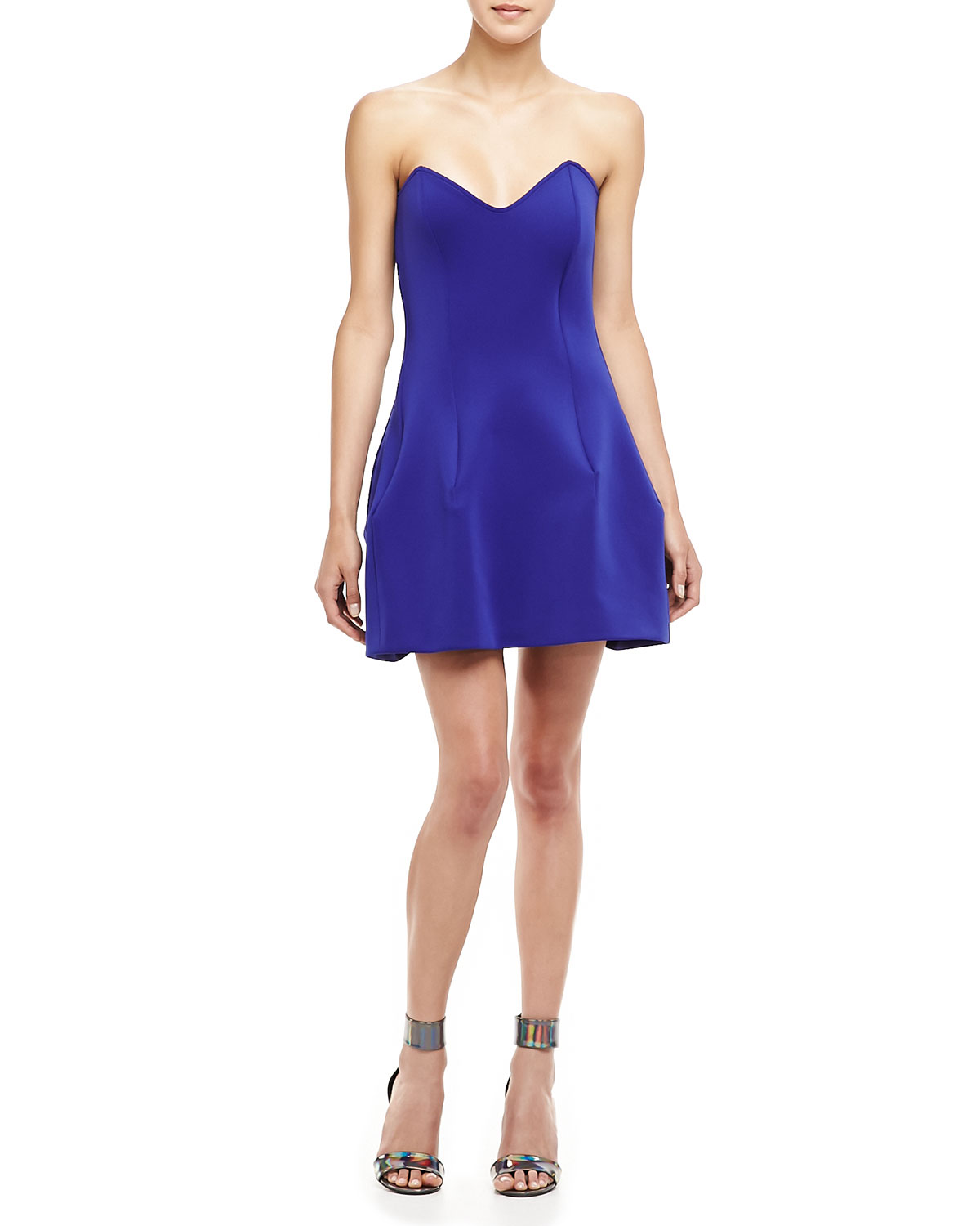 Boulee blue sweetheart-neckline strapless Ivy dress ($231)