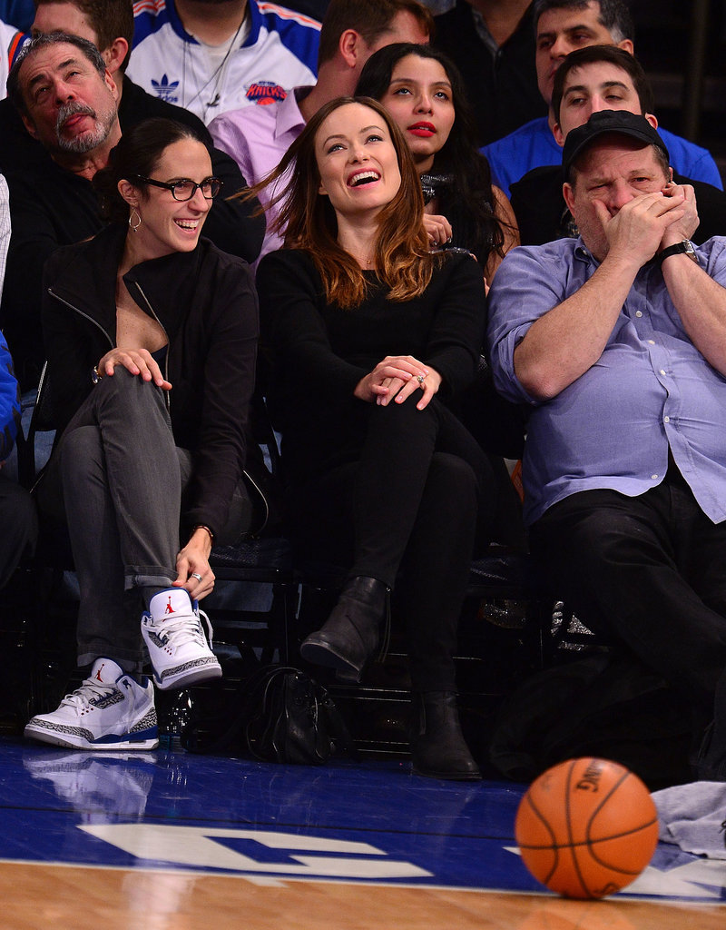 To support the Knicks, Olivia Wilde dressed like a true New Yorker — all in black.