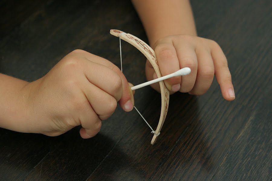 Tiny Popsicle Stick Bow and Arrow