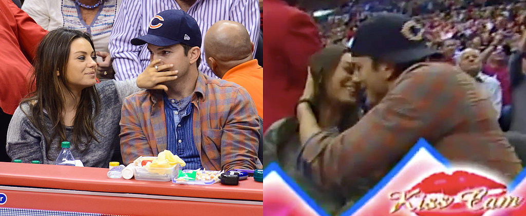 How Do Mila and Ashton Celebrate Their Baby News? On the Kiss Cam!