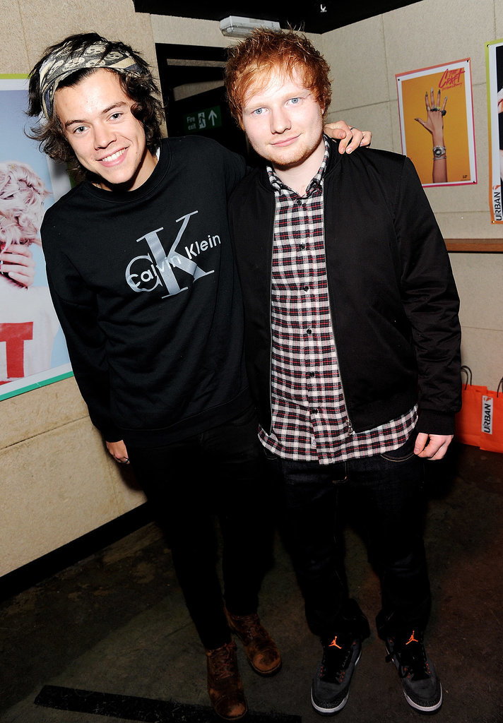Harry posed with Ed.