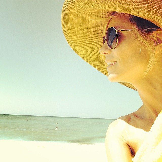 "Heidi Klum shared a sunny vacation snap from ""paradise."" Source: Instagram user heidiklum"