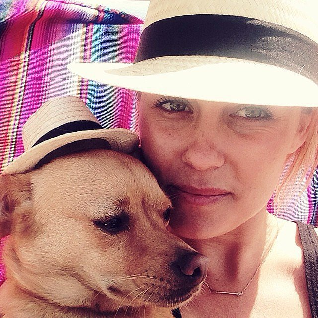 Lauren Conrad wore a matching hat with her dog. Source: Instagram user laurenconrad