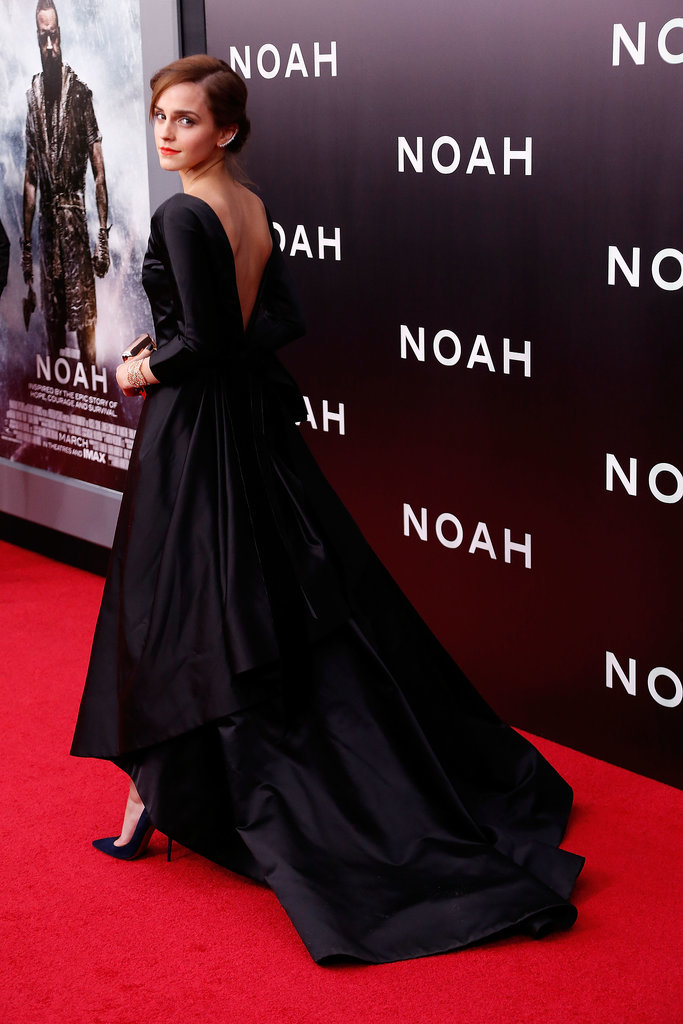 Emma Watson premiered Noah in NYC on Wednesday.