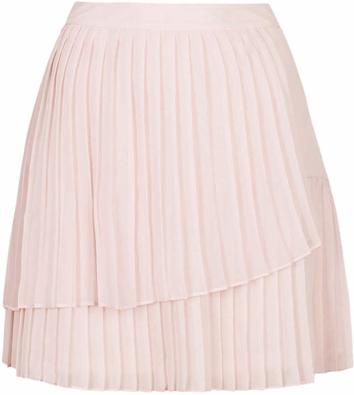 Topshop Pink Pleated Skirt