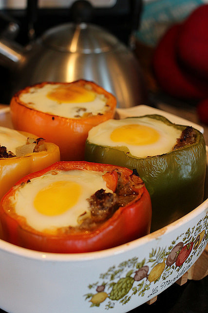 Breakfast-Stuffed Peppers